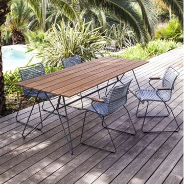 "Ledge Lounger Bamboo Playnk Rectangular Dining Table - 63"" or 87"""