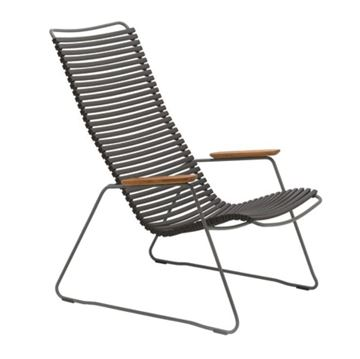 Ledge Lounger Playnk Lounge Chair With Bamboo Armrests and Powder-Coated Frame - 24 lbs.