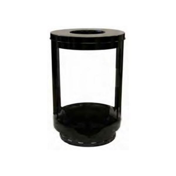 55-Gallon Transparent Panels Lookout Trash Receptacle with Powder-Coated Steel Frame  - 90 lbs.