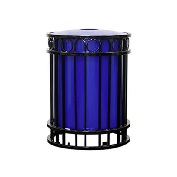 32-Gallon Trash Receptacle Miami Collection with Inner Sleeve - 156 lbs.