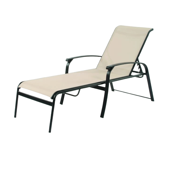 Rosetta Sling Chaise Lounge with Aluminum Frame - 24 lbs.