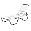 Sanibel Vinyl Strap Chaise Lounge with Aluminum Frame - 24 lbs.	Sanibel Vinyl Strap Chaise Lounge with Aluminum Frame - 24 lbs.