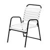 Sanibel Vinyl Strap Dining Chair with Aluminum Frame - 12 lbs.