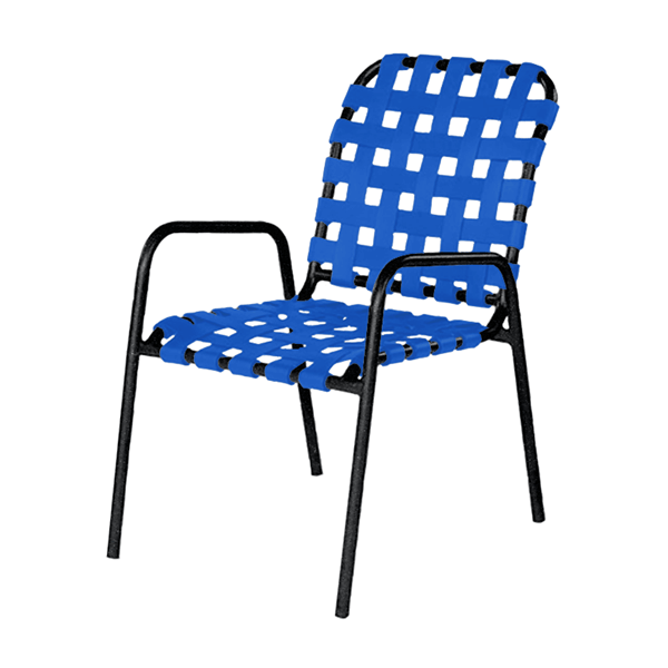 Sanibel Basketweave Vinyl Strap Dining Chair - 12 lbs.