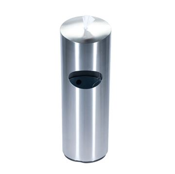 10-Gallon Receptacle Precision Series with Sanitizing Wipes Dispenser - 47 lbs.