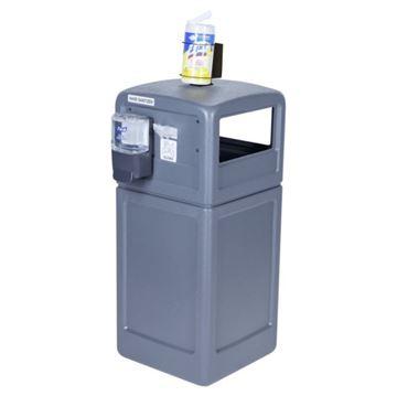 42-Gallon Trash Receptacle PolyTec Series with Sanitation Station - 80 lbs.
