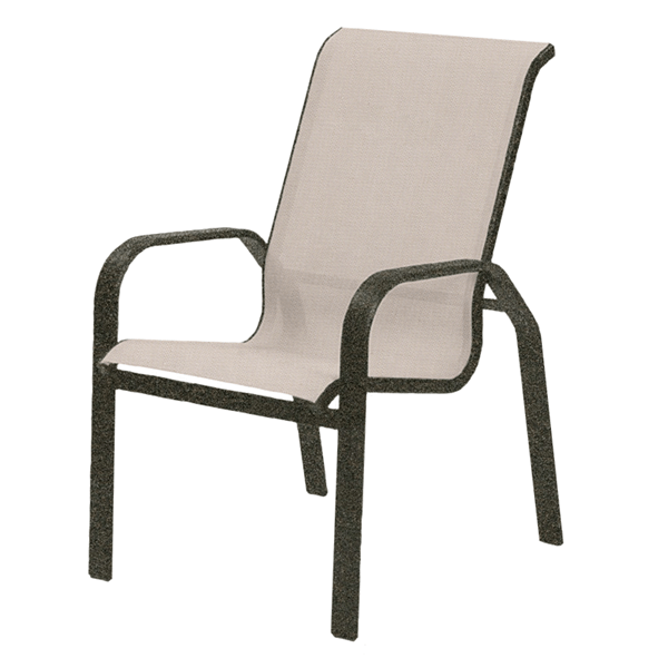 Maya Sling Hi-Back Dining Chair with Aluminum Frame - 14 lbs.