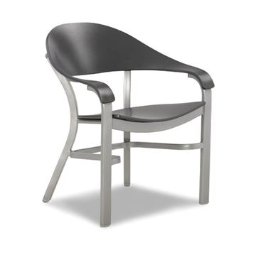 Jetset MGP Dining Chair with Powder-Coated Aluminum Frame - 17 lbs.