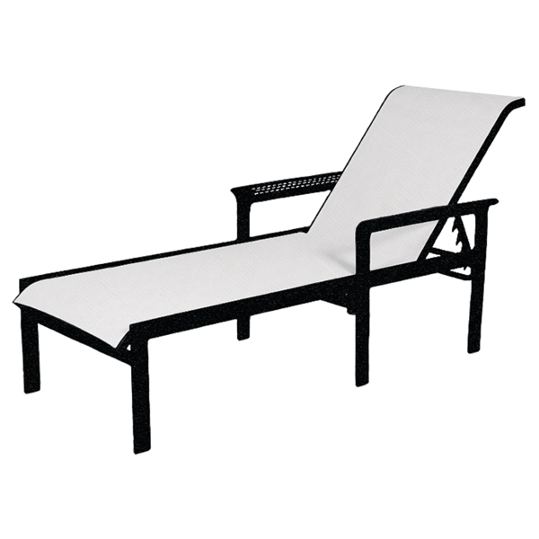 South Beach Sling Chaise Lounge with Aluminum Frame - 20 lbs.