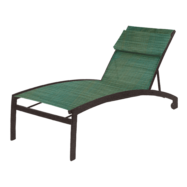 Vision Sling Chaise Lounge with Wheels and Aluminum Frame - 20 lbs.