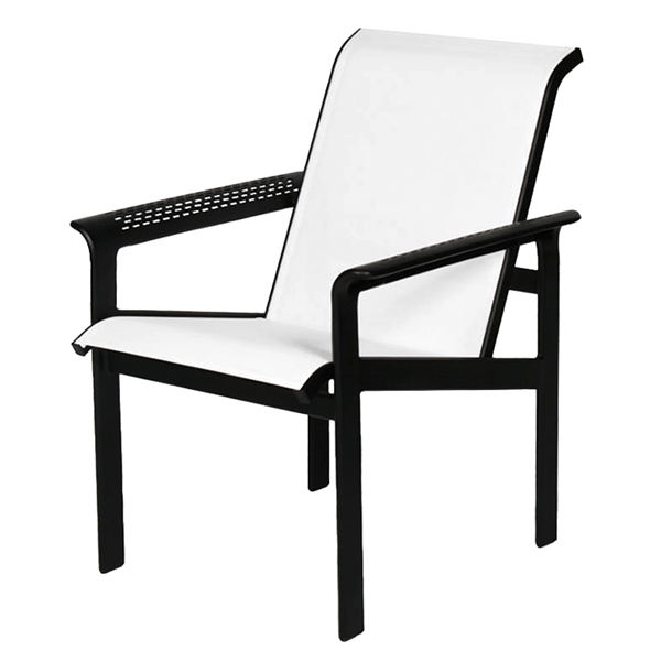 South Beach Sling Hi-Back Dining Chair with Aluminum Frame - 15 lbs.