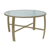 """Pinnacle Dining Table with Extruded Aluminum Frame - 42"""" or 48"""" Round"""