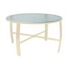 "Pinnacle Dining Table with Extruded Aluminum Frame - 42"" or 48"" Round"