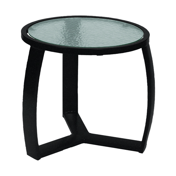 "Pinnacle Side Table with Extruded-Aluminum Frame - 20"" Round"