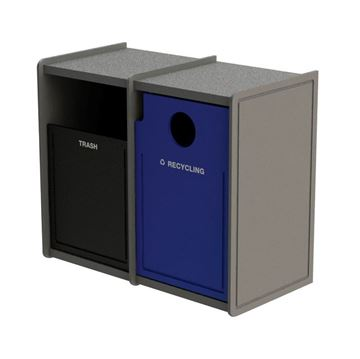 EarthCraft Waste and Recycling Dual 32-Gallon Containers - 168 lbs.