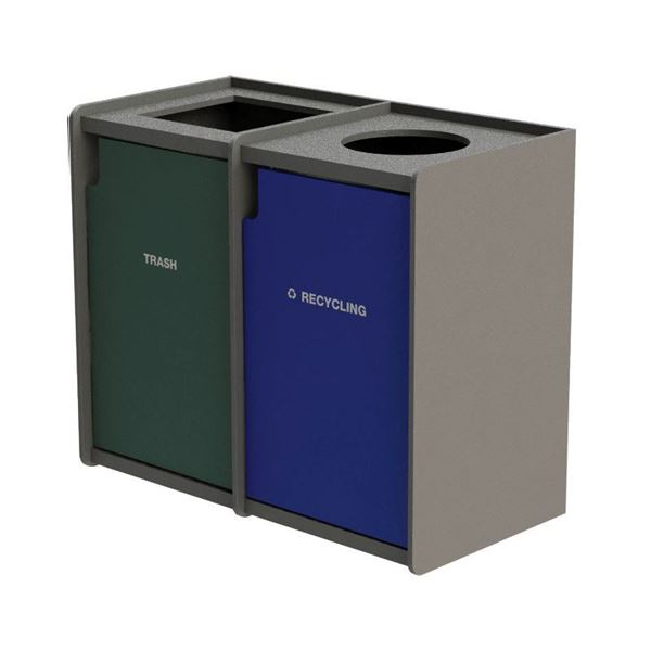 EarthCraft Waste and Recycling Dual 42-Gallon Containers - 168 lbs.