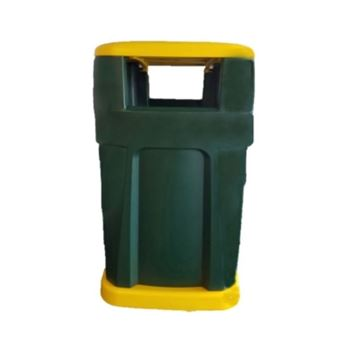 65-Gallon Waste Receptacle Commercial-Grade Polyethylene Plastic - 130 lbs.