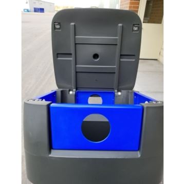 65-Gallon Recycling Receptacle Commercial-Grade Polyethylene Plastic - 130 lbs.