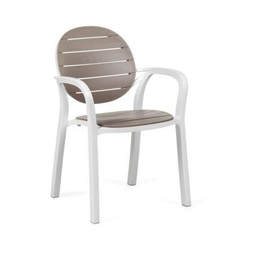 Palma Dining Arm Chair Stackable Plastic Resin - 11.5 lbs.