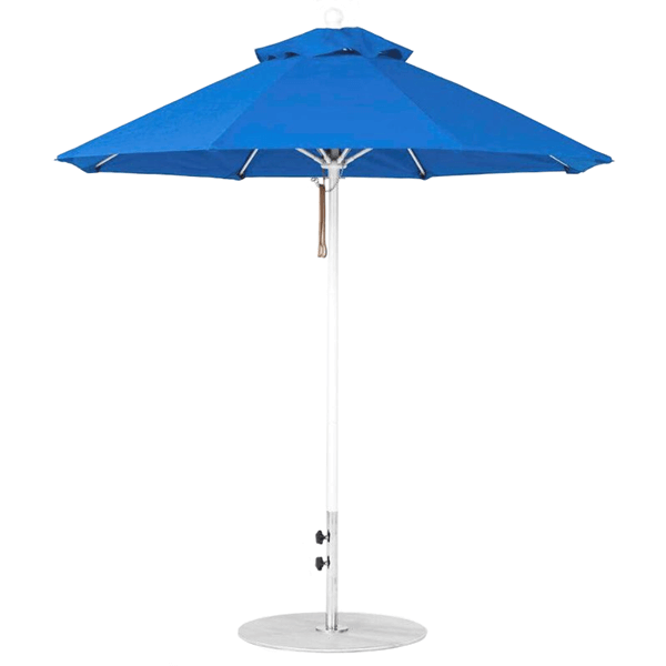 11 Foot Octagonal Fiberglass Market Umbrella with Pacific Blue Marine Grade Fabric