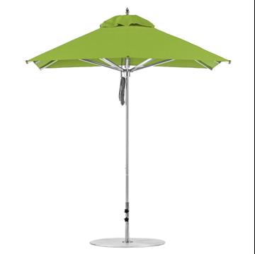 7.5 Foot Square Aluminum Market Umbrella with Marine Grade Fabric