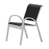 Telescope Aruba Cafe Chair Fabric Sling with Aluminum Frame