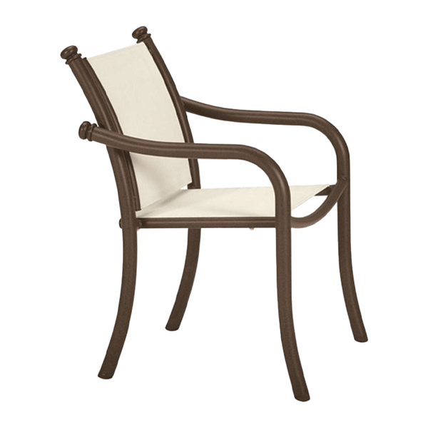 Tropitone La Scala Relaxed Sling Dining Chair with Aluminum Frame