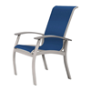 Telescope Belle Isle Sling Arm Chair with Aluminum Frame