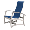 Telescope Belle Isle Sling Motion Chat Chair with Aluminum Frame and MGP