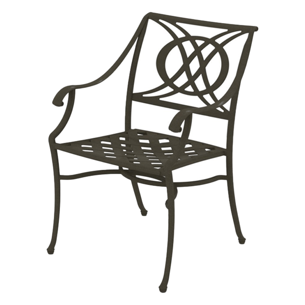 Telescope Cadiz Arm Chair Cast Aluminum