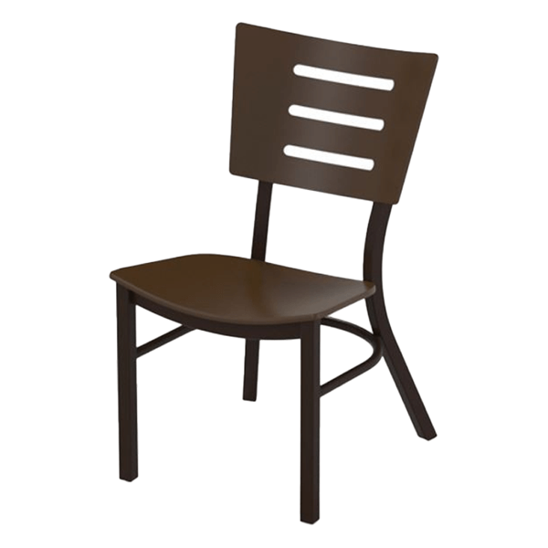 Avant MGP Stacking Dining Chair with Powder-Coated Aluminum Frame - 16 lbs.