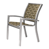Telescope Kendall Cross Weave Strap Stacking Cafe Chair with Aluminum Frame