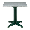 24' Melamine Table Top with Resin or Aluminum Base.
