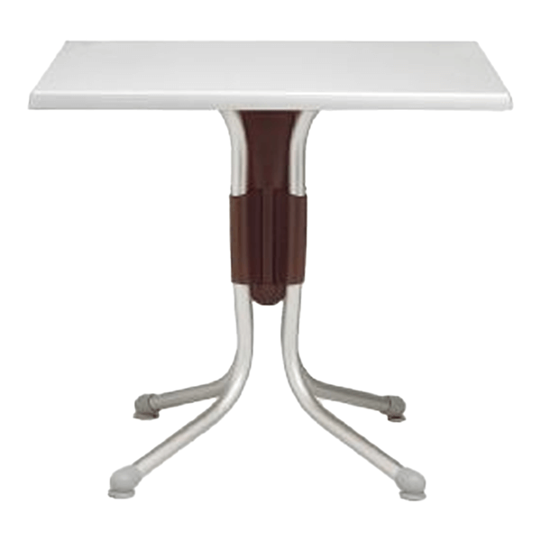 Polo 31 Inch Square Dining Table Werzalit with Aluminum Base