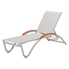 Helios Contract Sling Chaise Lounge Powder-Coated Aluminum Frame - 21 lbs.