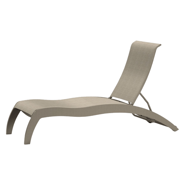 Telescope Dune Sling Stacking Chaise Lounge with Marine Grade Polymer Frame