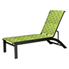 Telescope Kendall Cross Weave Strap Stacking Chaise Lounge with Aluminum Frame
