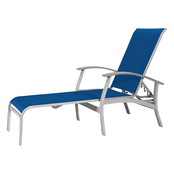 Telescope Belle Isle Four Position Lay-Flat Chaise with Aluminum Frame and MGP Accents