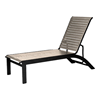 Telescope Kendall Strap, Lay Flat Stacking Chaise with Aluminum Frame
