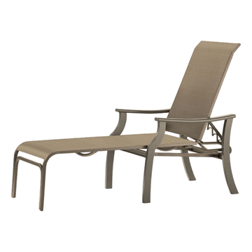 St. Catherine Sling Chaise Lounge with Marine Grade Polymer Frame