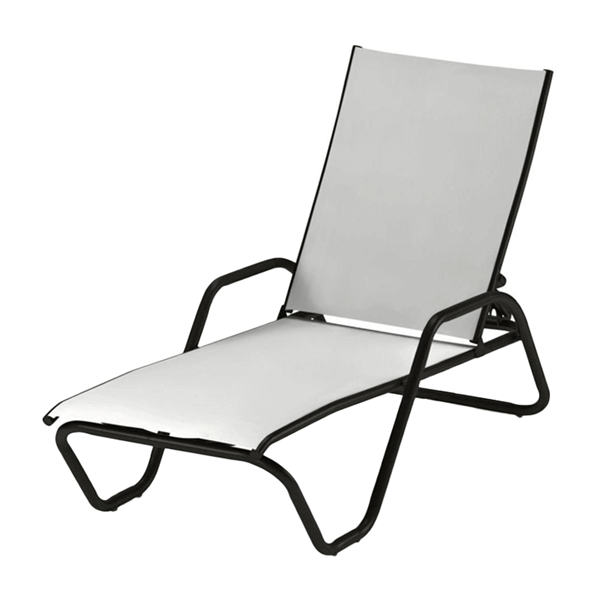 Telescope Gardenella Chaise Lounge Fabric Sling with Aluminum Frame