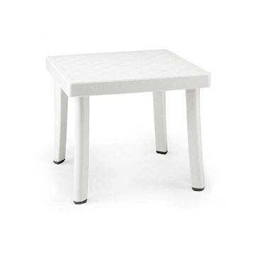 Rodi 18 Inch Square Plastic Resin Side Table