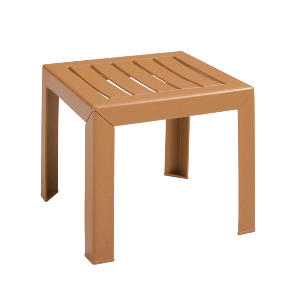 Bahia 16 Inch Square Cocktail Table Plastic Resin - Teakwood