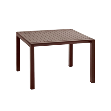 """Aria 24"""" Square Plastic Resin Pool Side Table"""