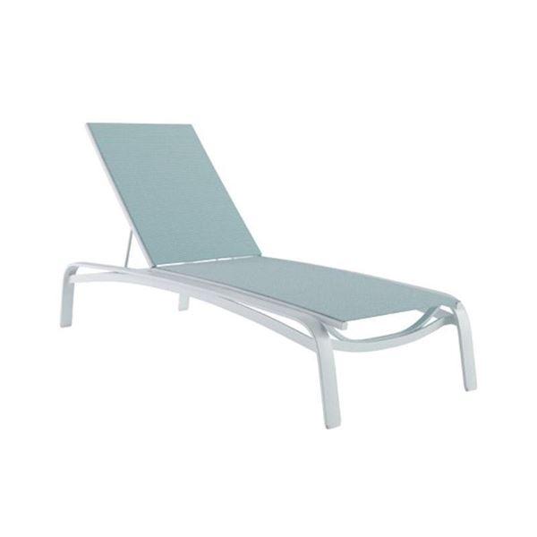 Tropitone Laguna Beach Armless Sling Chaise Lounge with Commercial-Grade Aluminum Frame - 33.5 lbs.
