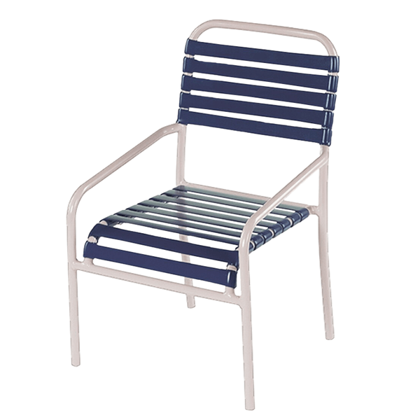 St. Lucia Dining Chair, Vinyl Straps with Aluminum Frame Pool Furniture