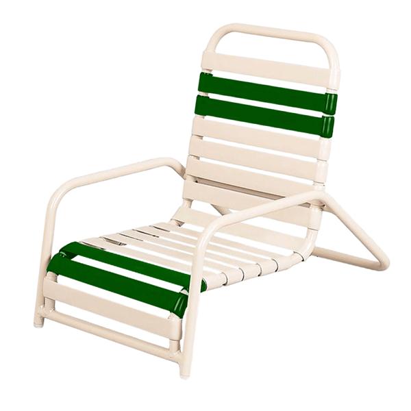 Daytona Vinyl Strap Sand Chair Powder-Coated Commercial Aluminum Frame