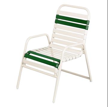 Daytona Commercial Chair Vinyl Strap Powder-Coated Aluminum Stackable