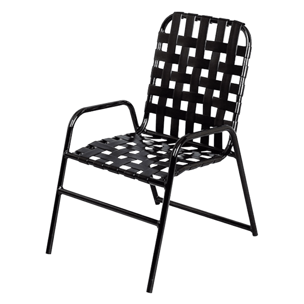 Daytona Cross Weave Commercial Chair with Powder-Coated Aluminum Frame