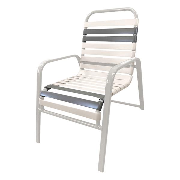 Destin Commercial Wide Arm Chair Powder-Coated Aluminum Stackable